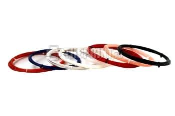 Купить комплект ABS пластика для 3D принтеров и ручек диаметром 1,75мм. Вид 1.