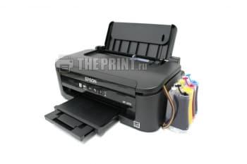 Принтер Epson WorkForce WF-2010W с установленным СНПЧ. Вид  1