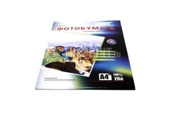 Глянцевая фотобумага IST A4, 240 г/м2 (20 листов). Односторонняя. Вид  2